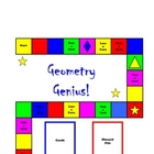 GEOMETRY GENIUS!  board game - (angles, solids, lines. tri