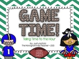 Game Time--Telling Time to the Hour-Self Checking QR Code