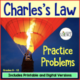 Gas Laws:  Charles's Law Homework