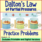 Gas Laws: Dalton's Law of Partial Pressure Homework