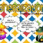 Generalization Flipchart & Group Activity