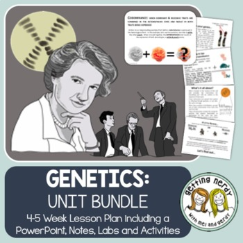 Genetics Bundled Unit:  PowerPoint and ALL Handouts