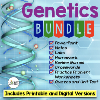 Genetics Complete Unit Plan Bundle of Products - 19 products included