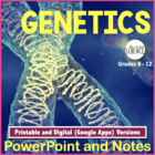 Genetics Powerpoint with Teacher and Student Notes