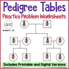 Genetics Practice Problems: Pedigree Tables