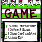 Genre Game Set with graphics and answer key- great for lit