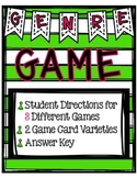 Genre Game Set- Three Game Versions Great for Centers