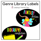 Genre Library Labels (Consistent Colors)
