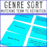 Genre Matching Cards