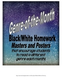 Genre-of-the-Month Reading Logs, Activities, & Posters (Bl