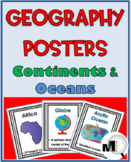 Geography Poster Set – Continents and Oceans