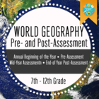 Geography Pre-assessment/Post-assessment For Beginning of Year