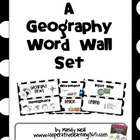 Geography Word Wall Set