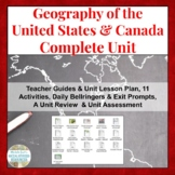 United States of America & Canada Geography COMPLETE UNIT