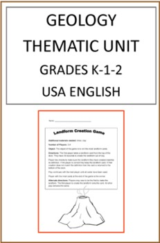 Geology Thematic Unit For Grades K-1-2