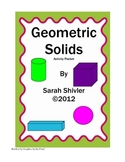Geometric Solids Activity Packet: Fun with 3-D Shapes