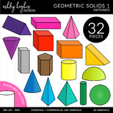 Geometric Solids {Graphics for Commercial Use}