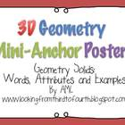Geometry 3D  Mini Anchor Posters
