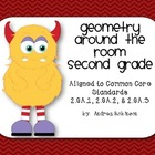 Geometry Around the Room - 2nd grade - 2.GA.1, 2.GA.2, 2.GA.3