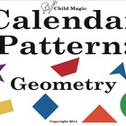 Geometry Calendar Pattern Pieces