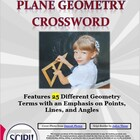 Geometry Crossword: Emphasizes Points, Lines, & Angles