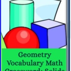 Geometry Crossword: Solids & Formulas