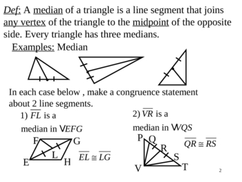 Geometry Lesson 14: Special Segments in Triangles