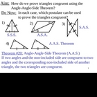 Geometry Lesson 23: AAS Theorem