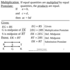 Geometry Lesson 7: Multiplication and Division Postulates