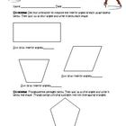 Geometry: Polygon Angles,Triangulating Activity Worksheet