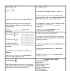 Georgia Accelerated Math 1 Targets Set 7