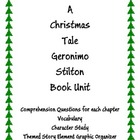 Geronimo Stilton A Christmas Tale Comprehension Book Unit