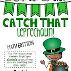 Get Up & Go! Math Activities-Leprechaun Themed