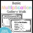 Get Up and Move! {A Basic Multiplication Gallery Walk}