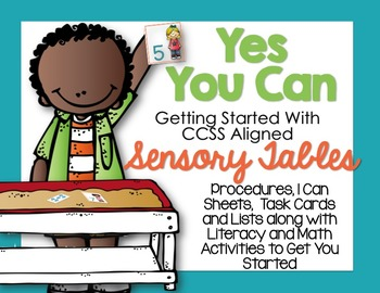 Getting Started With Sensory Table Aligned Activities-Task Cards and Printables