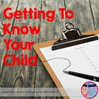 Getting to Know Your Child - Parent questionnaire for star