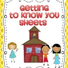 Getting to Know you sheets