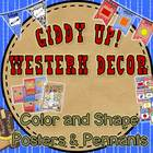 Giddy Up! Western Themed Color & Shape Posters and Pennants