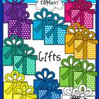 Gifts Bright Colors and Polka Dots Clip Art