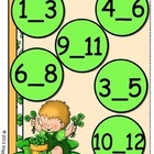 Giggly Games Sunny Shamrocks Missing Numbers File Folder Game