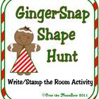 Ginger-Snap Shapes Write / Stamp the Room Spelling Vocabul