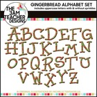 Gingerbread Alphabet Cookies Clip Art Set: Set 2