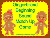 Gingerbread Beginning Sound Match Up Game