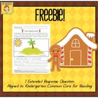 FREEBIE! Gingerbread Engineering Extended Response Tied to