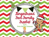 Gingerbread Fact Family Freebie!