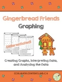 Gingerbread Friends Graphing {CCSS Aligned & Differentiated!}