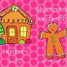 Gingerbread Handwriting Numbers 1-20