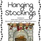 Gingerbread Hanging Stockings Math Center- Addition Sums b