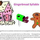Gingerbread House Christmas Syllable Sort - A  Syllable Cl