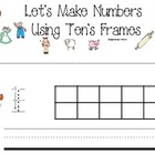 Gingerbread Making 10's frames and Practice Number Formati